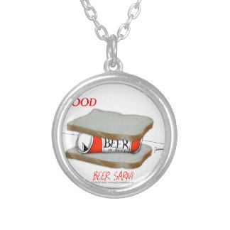 Tony Fernandes's Man Food - beer sarni Silver Plated Necklace
