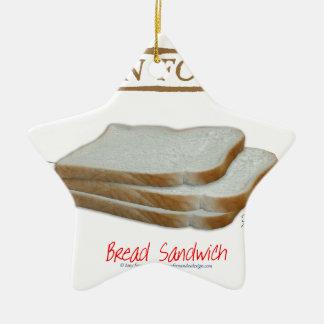 Tony Fernandes's Man Food - bread sandwich Christmas Ornament