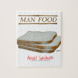 Tony Fernandes's Man Food - bread sandwich Jigsaw Puzzle