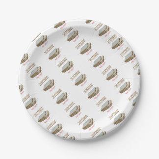 Tony Fernandes's Man Food - bread sandwich Paper Plate