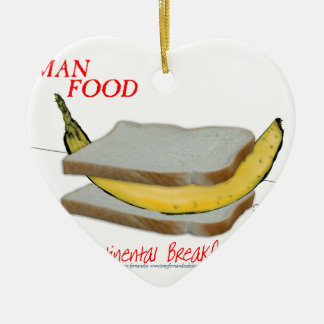 Tony Fernandes's Man Food - continental breakfast Christmas Ornament