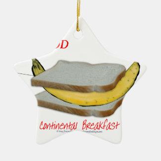Tony Fernandes's Man Food - continental breakfast Christmas Ornament