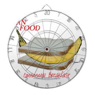 Tony Fernandes's Man Food - continental breakfast Dartboard