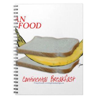 Tony Fernandes's Man Food - continental breakfast Notebook