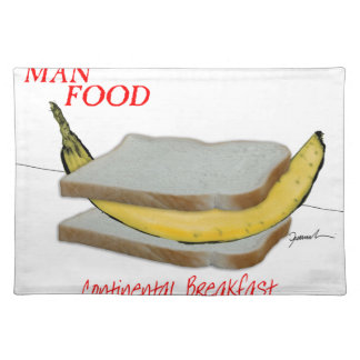 Tony Fernandes's Man Food - continental breakfast Placemat