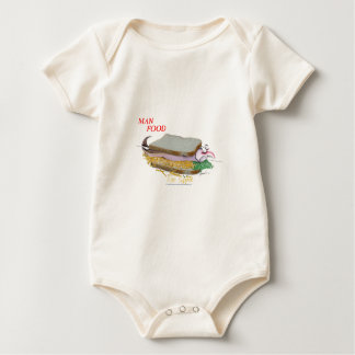 Tony Fernandes's Man Food - fish supper Baby Bodysuit