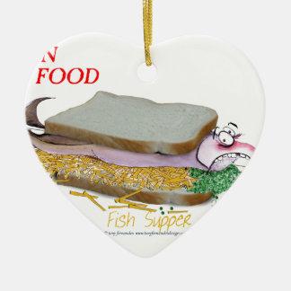 Tony Fernandes's Man Food - fish supper Christmas Ornament