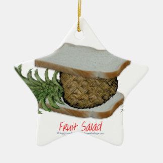 Tony Fernandes's Man Food - fruit salad Christmas Ornament