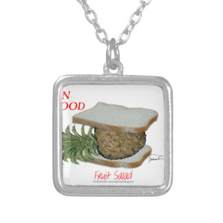 Tony Fernandes's Man Food - fruit salad Silver Plated Necklace
