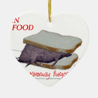 Tony Fernandes's Man Food - motorway burger Christmas Ornament
