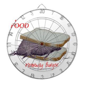 Tony Fernandes's Man Food - motorway burger Dartboard