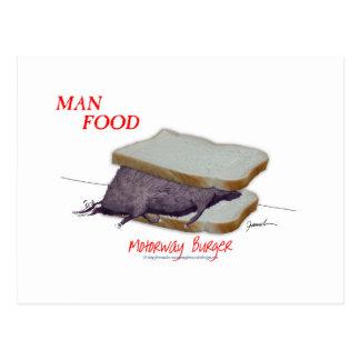 Tony Fernandes's Man Food - motorway burger Postcard