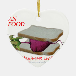 Tony Fernandes's Man Food - ploughmans lunch Christmas Ornament