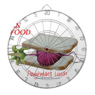 Tony Fernandes's Man Food - ploughmans lunch Dartboard