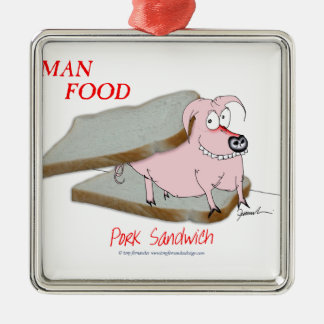 Tony Fernandes's Man Food - pork sandwich Christmas Ornament