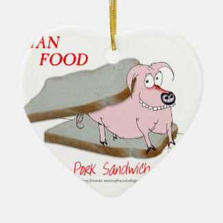 Tony Fernandes's Man Food - pork sandwich Christmas Ornament