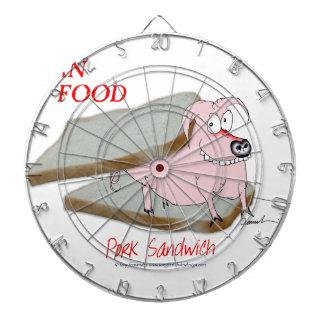 Tony Fernandes's Man Food - pork sandwich Dartboard