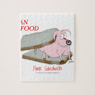Tony Fernandes's Man Food - pork sandwich Jigsaw Puzzle