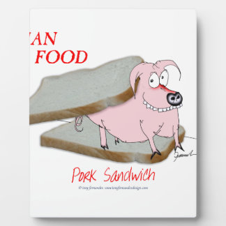Tony Fernandes's Man Food - pork sandwich Plaque