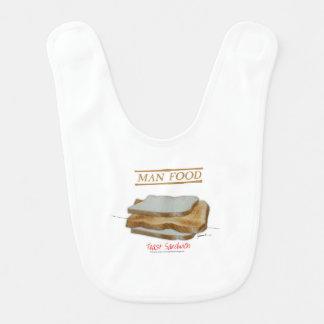 Tony Fernandes's Man Food - toast sandwich Bib