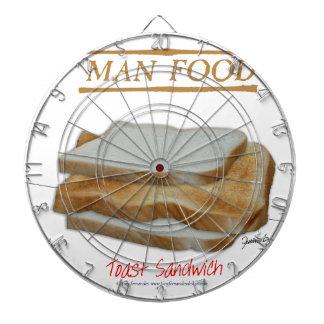 Tony Fernandes's Man Food - toast sandwich Dartboard