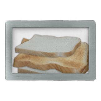 Tony Fernandes's Man Food - toast sandwich Rectangular Belt Buckle