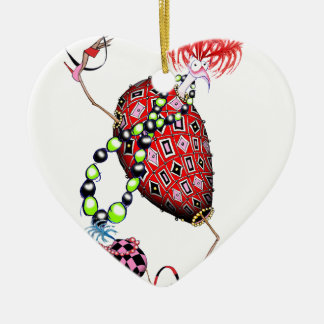 Tony Fernandes's Red Ruby Fab Egg Ceramic Heart Decoration