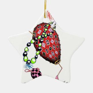 Tony Fernandes's Red Ruby Fab Egg Ceramic Star Decoration