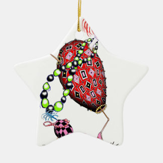 Tony Fernandes's Red Ruby Fab Egg Christmas Ornament