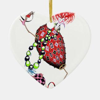 Tony Fernandes's Red Ruby Fab Egg Christmas Ornament