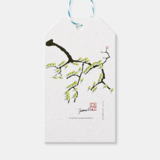 tony fernandes sakura and green birds gift tags