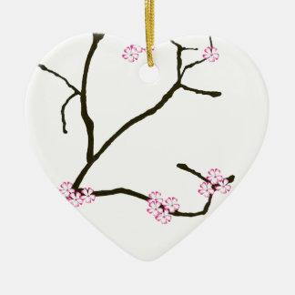 Tony Fernandes Sakura Blossom 1 Ceramic Heart Decoration
