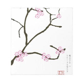 Tony Fernandes Sakura Blossom 1 Notepad