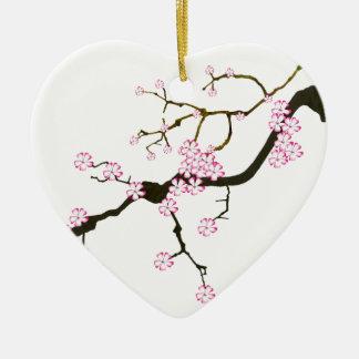 Tony Fernandes Sakura Blossom 6 Christmas Ornament