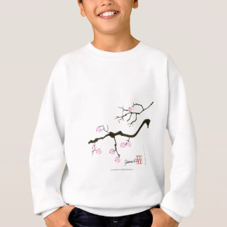 tony fernandes sakura blossom and pink bird sweatshirt