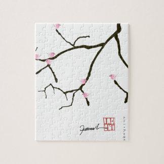 tony fernandes sakura with 7 pink birds 2 jigsaw puzzle