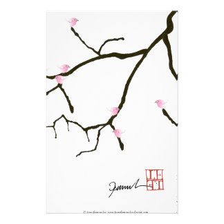 tony fernandes sakura with 7 pink birds 2 stationery