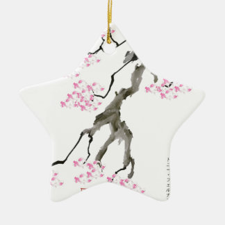 tony fernandes sakura with pink goldfish ceramic star decoration