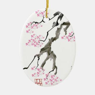 tony fernandes sakura with pink goldfish christmas ornament