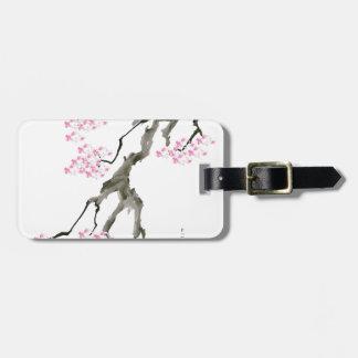 tony fernandes sakura with pink goldfish luggage tag