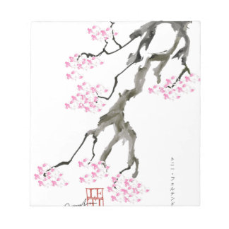 tony fernandes sakura with pink goldfish notepad