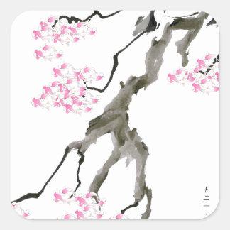 tony fernandes sakura with pink goldfish square sticker