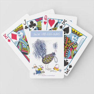 tony fernandes, you're fabeggulous bicycle playing cards