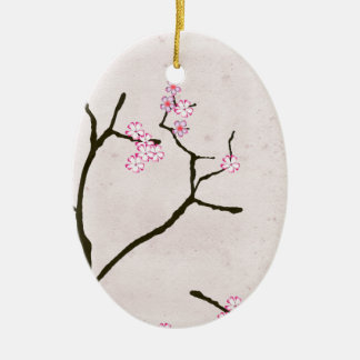 tony fernandes's antique blossom 1 ceramic oval decoration