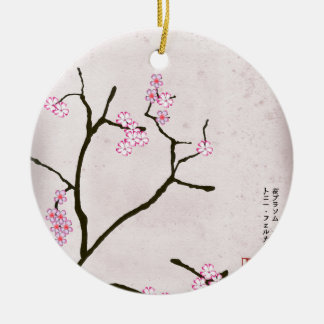 tony fernandes's antique blossom 1 round ceramic decoration