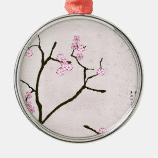 tony fernandes's antique blossom 1 Silver-Colored round decoration