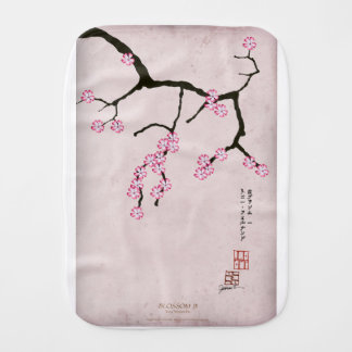 tony fernandes's antique blossom 3 burp cloth