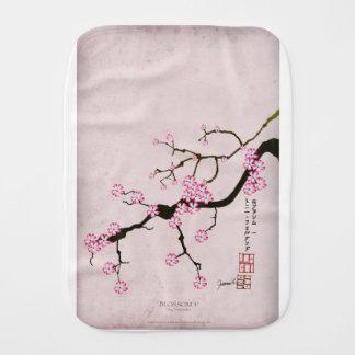 tony fernandes's antique blossom 5 burp cloth