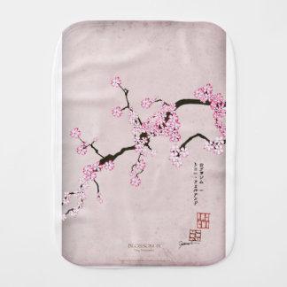 tony fernandes's antique blossom 9 burp cloth