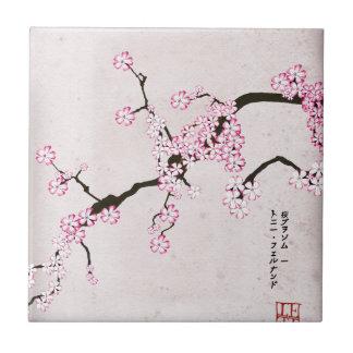 tony fernandes's antique blossom 9 tile